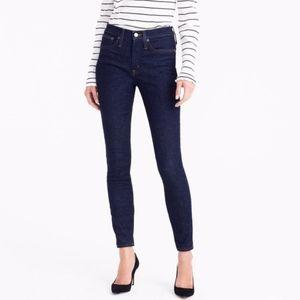 J. Crew Dark Wash Midrise Toothpick Jeans